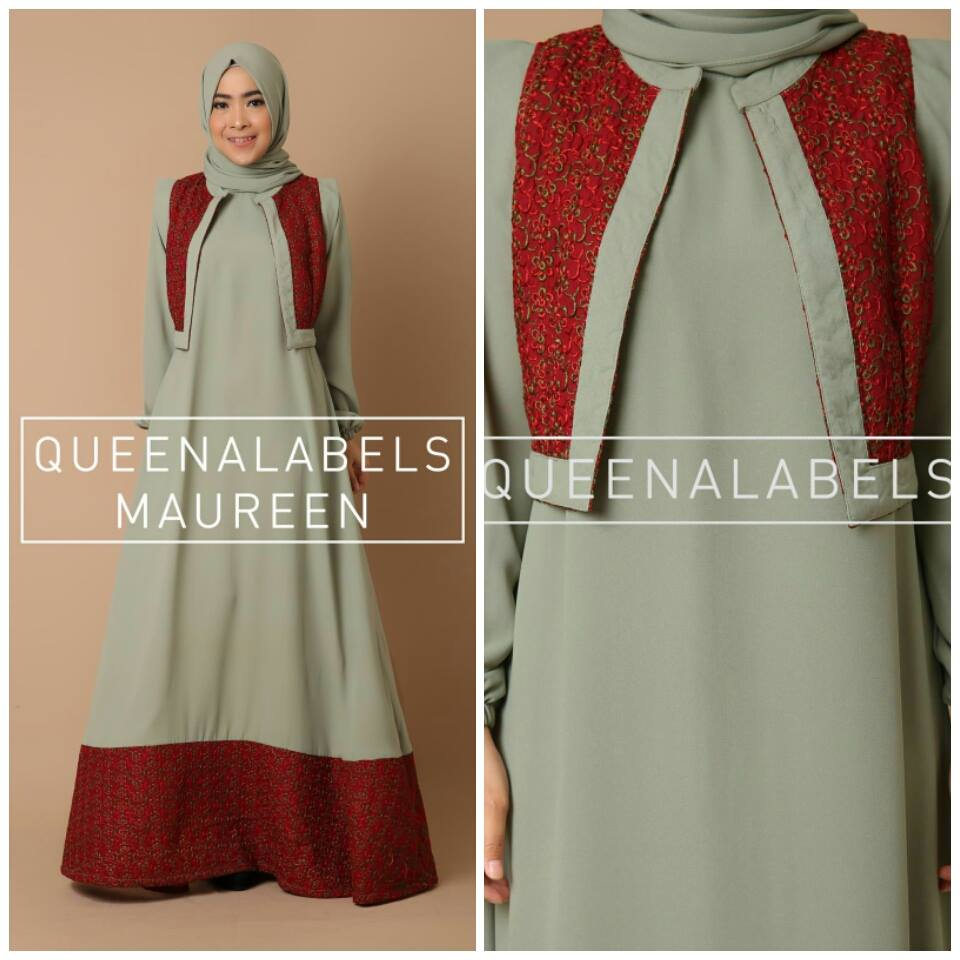 Maureen by Queenalabels HIJAU TELOR ASIN