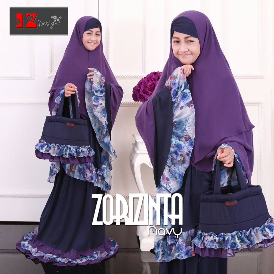 OPEN PO Mukena Zorizinta by IZ Design NAVY 1