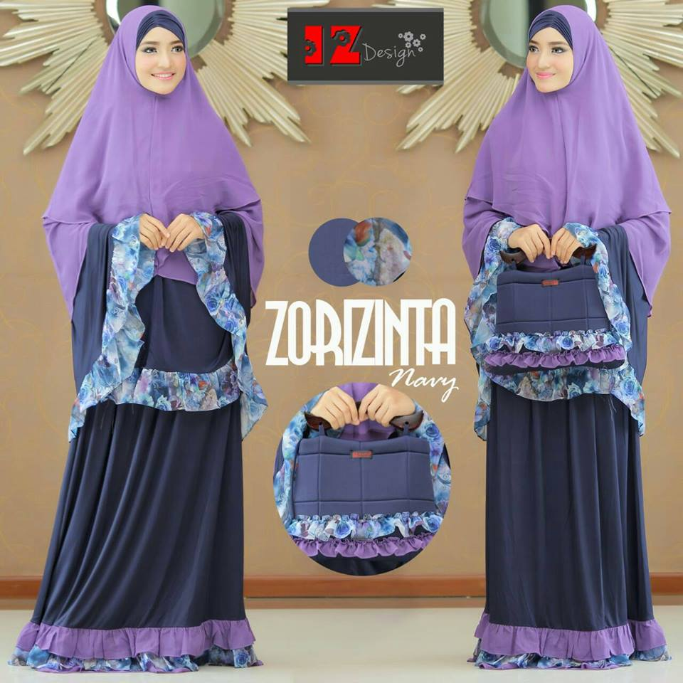 OPEN PO Mukena Zorizinta by IZ Design NAVY