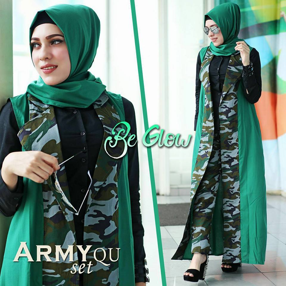 Set long cardy army by BE GLOW HIJAU