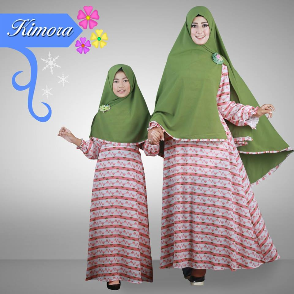 KIMORA COUPLE  MOM & KIDS HIJAU