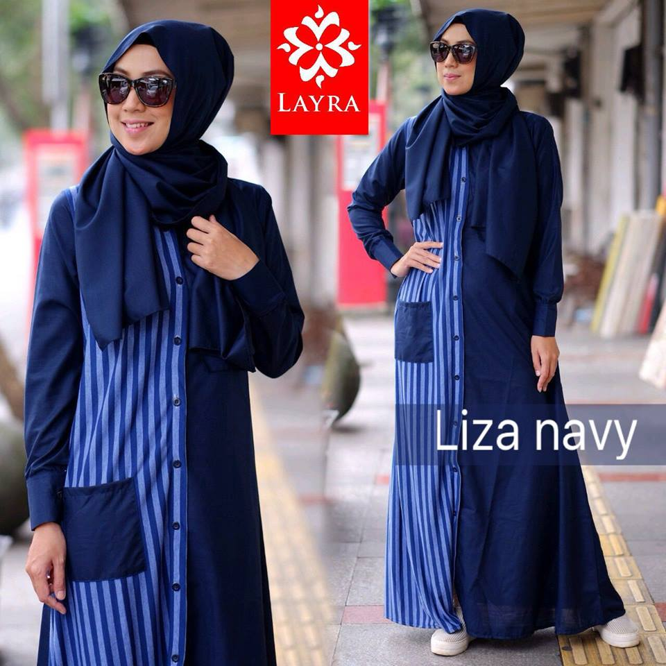 Liza Dress by LAYRA NAVY