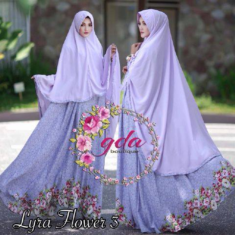 Lyra Flowers Syar'i Vol.3 by GDA BOUTIQUE Ungu