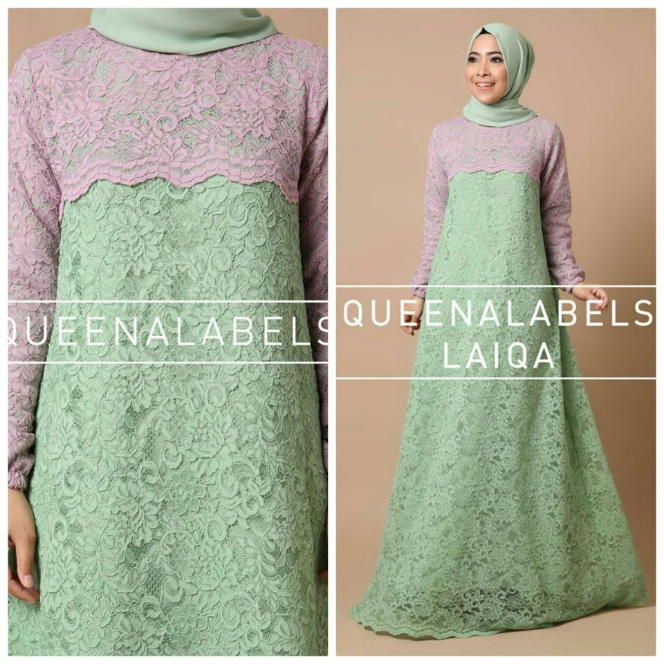 Laiqa by Queenalabels hijau mint