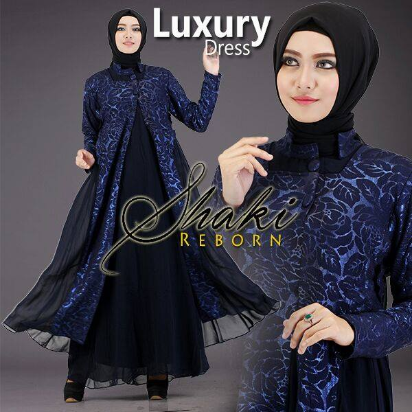 Luxury DRESS by Shaki navy
