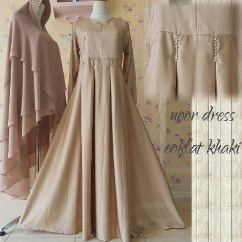 Noor Dress COKLAT KHAKI by Aidha