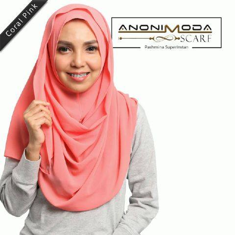 Pashmina New Superinstan Hoody Coral Pink  by Anonimoda