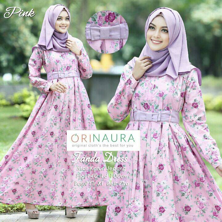 Fanda Dress By Orinaura Pink