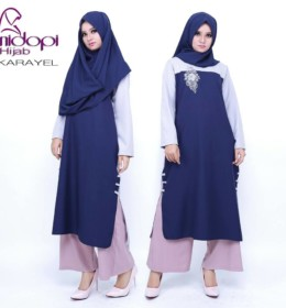 KARAVEL NAVY by NIDOPI HIJAB