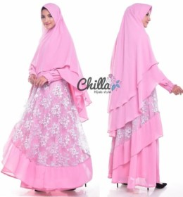 Mutmainnah syari PINK by Chilla