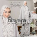 Bisyara- exclusive mukena prayer set GREY by Ayyanameena