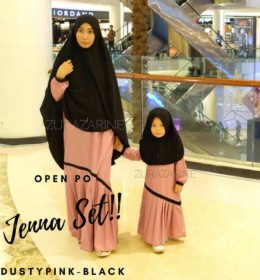 JENNA GAMIS SET Dusty Pink Black