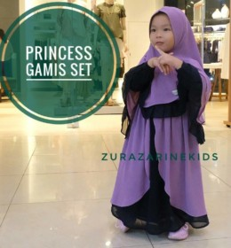 PRINCESS gamis set by ZURAZARINE KIDS. g