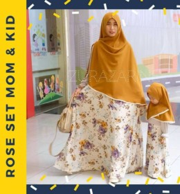 ROSE GAMIS SET MOM AND KID by ZURAZARINE KIDS.