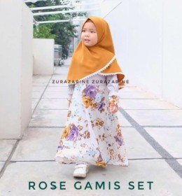 ROSE GAMIS SET MOM AND KID by ZURAZARINE KIDSs
