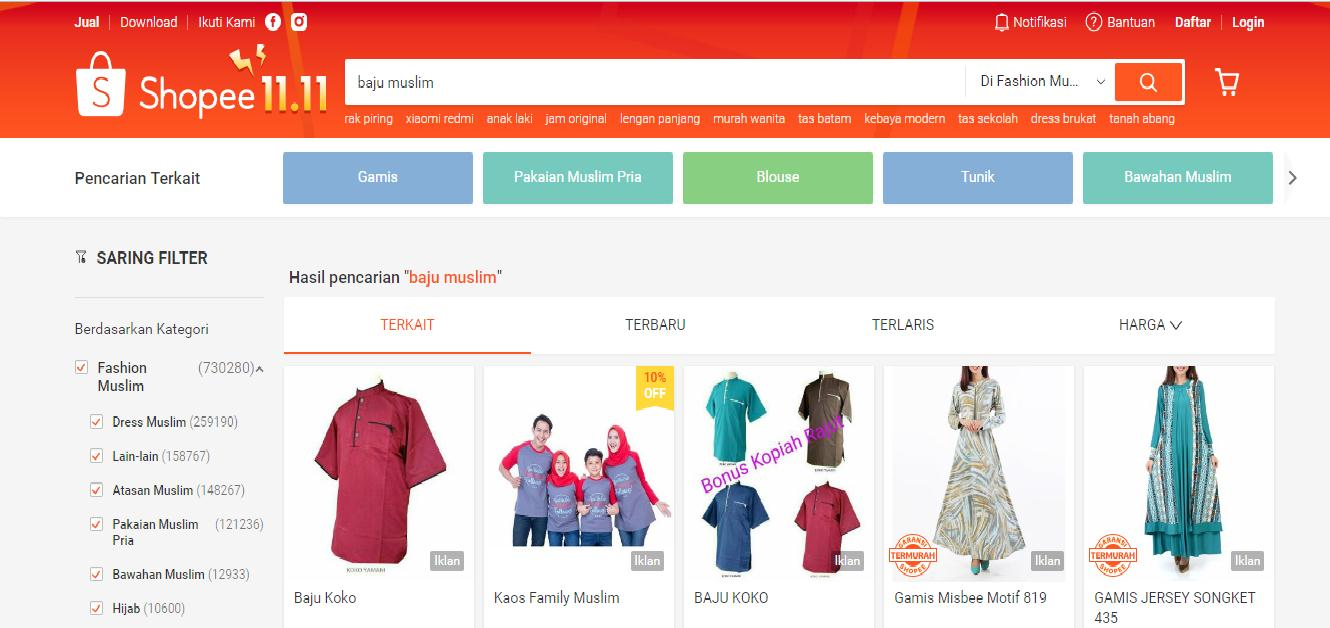 Website Shopee
