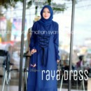 raya dress navy by zhafran
