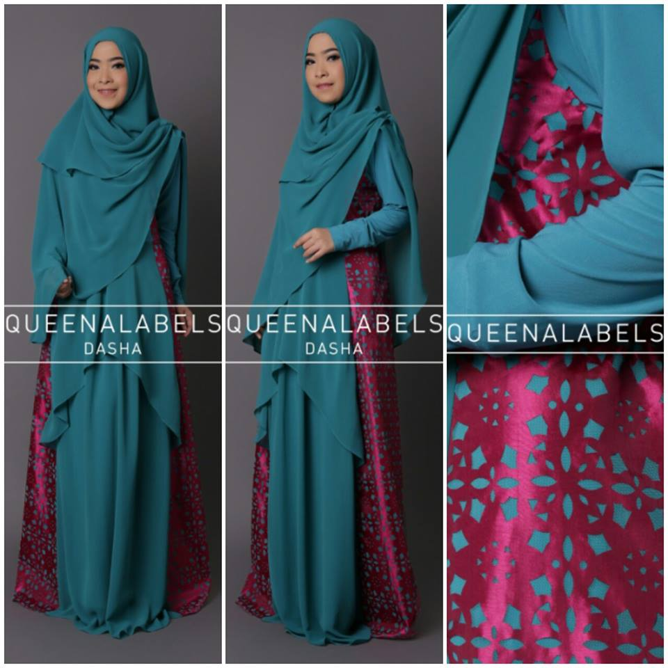 New Dasha Syari Biru Tosca