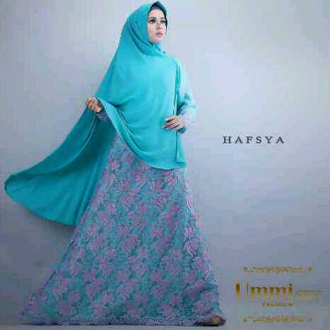 Hafsya by Ummi Premium, dress jersey kombinasi