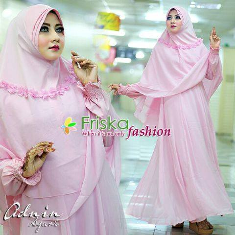 Adnin Dress syar'I set BABY PINK