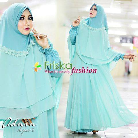 Adnin Dress syar'I set HIJAU MINT