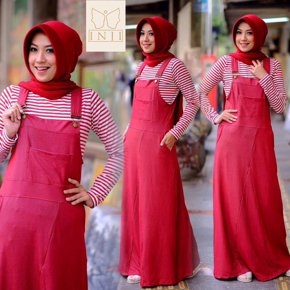 Open PO  Dress Overall set by Inji  Merah