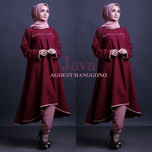 Open PO JAVA set TUNIK by Agoest Hanggono MAROON