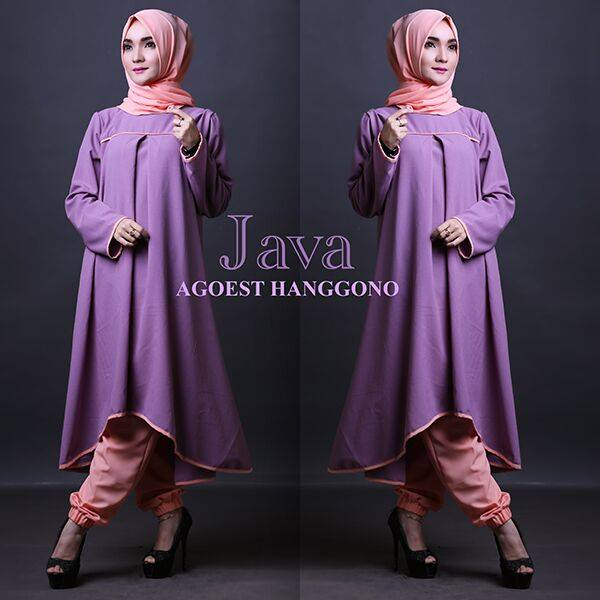 Open PO JAVA set TUNIK by Agoest Hanggono UNGU