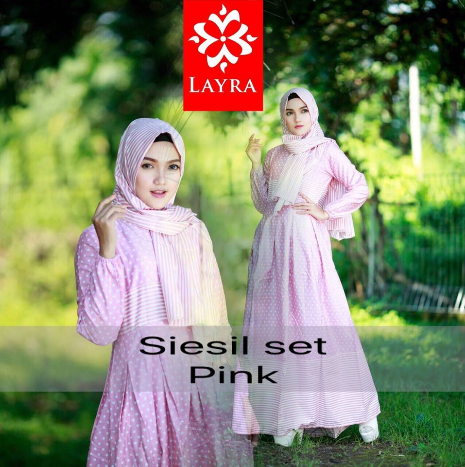 Open PO Siesil set by Layra PINK