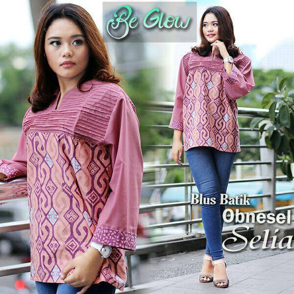 BLUS BATIK OPNESEL SELIA by BE GLOW SALEM