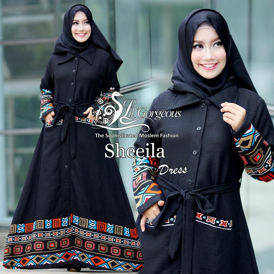 Sheeila Dress by Lil Gorgeous hitam