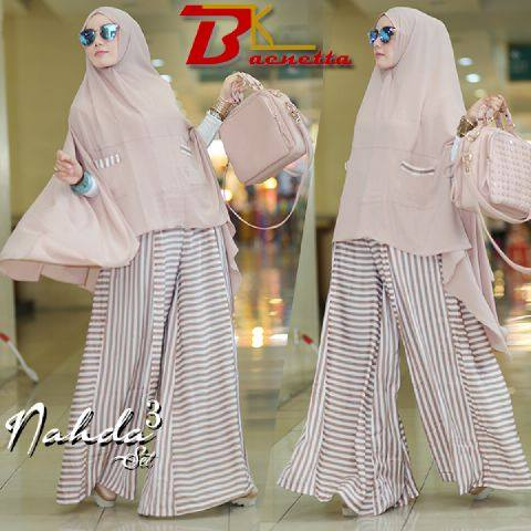 Nahda set syar'i 3in1 VOL.2 SALUR by BAENETA COKLAT