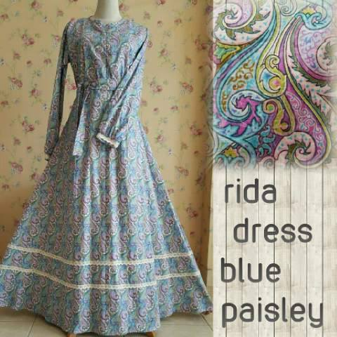 Rida Dress by Aidha BLUE PAISLEY