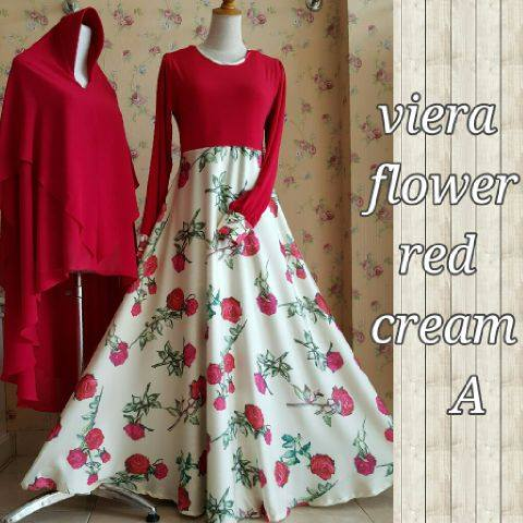 Viera flower Red Cream A