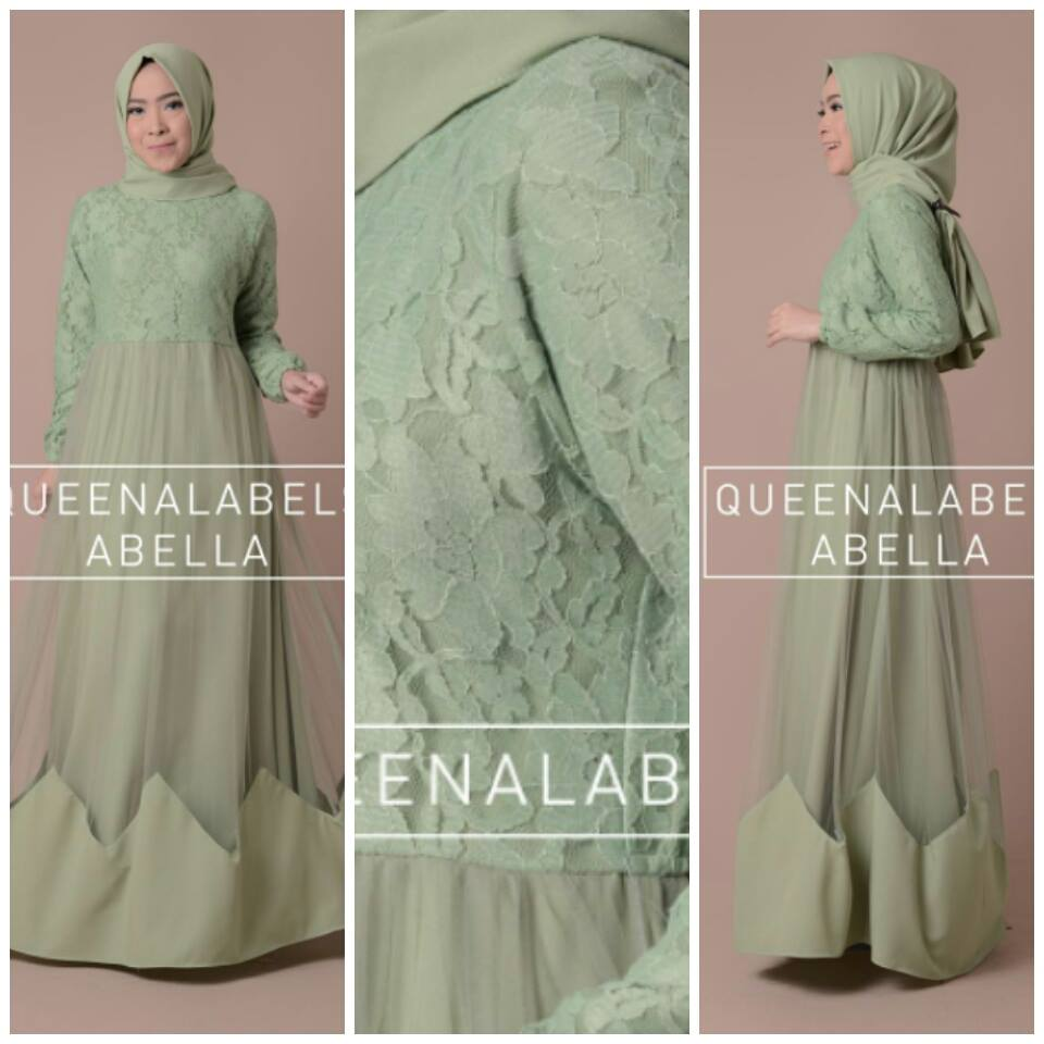 Abella by Queenalabels Hijau