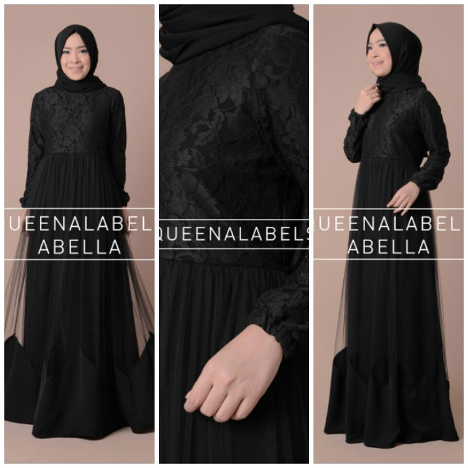 Abella by Queenalabels Hitam