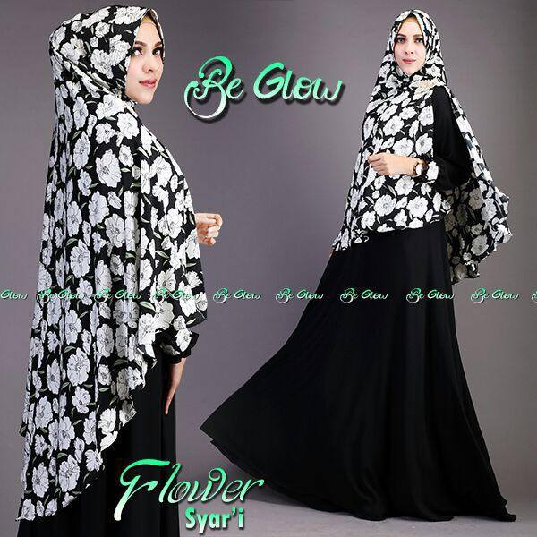 Flower syarie by BE GLOW HITAM