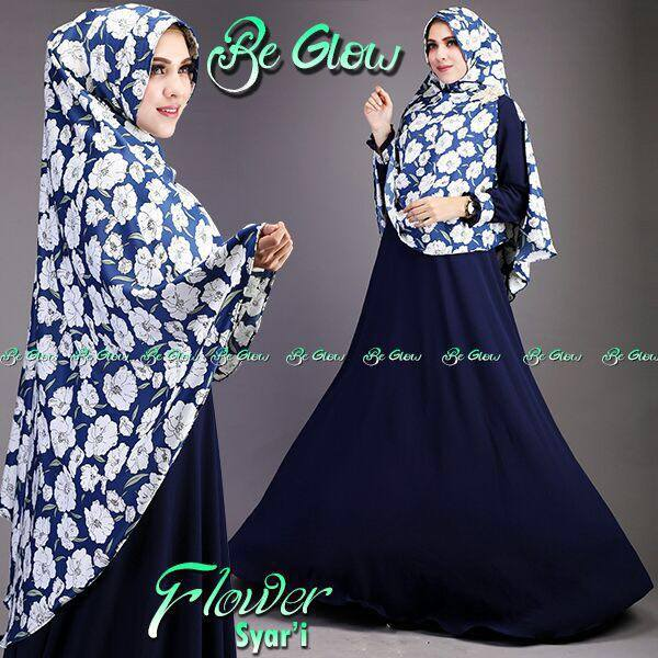 Flower syarie by BE GLOW NAVY