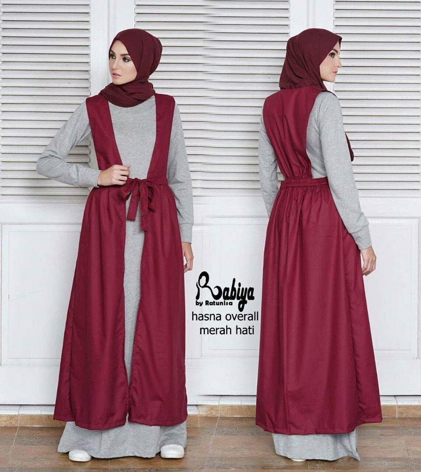 Hasna Overall Red