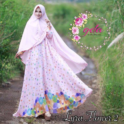 Lyra Flowers Syar'i Vol.2 by GDA BOUTIQUE PINK