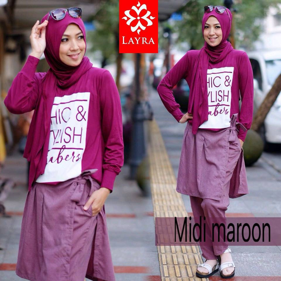 MIDI CHIC by LAYRA MAROON