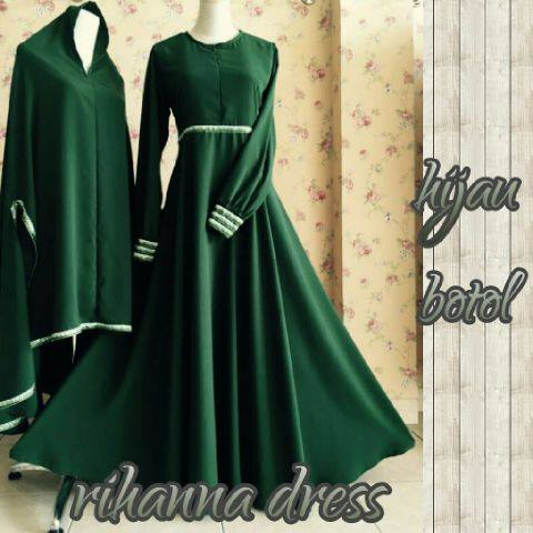 Rihanna Dress By Aidha Hijau Botol
