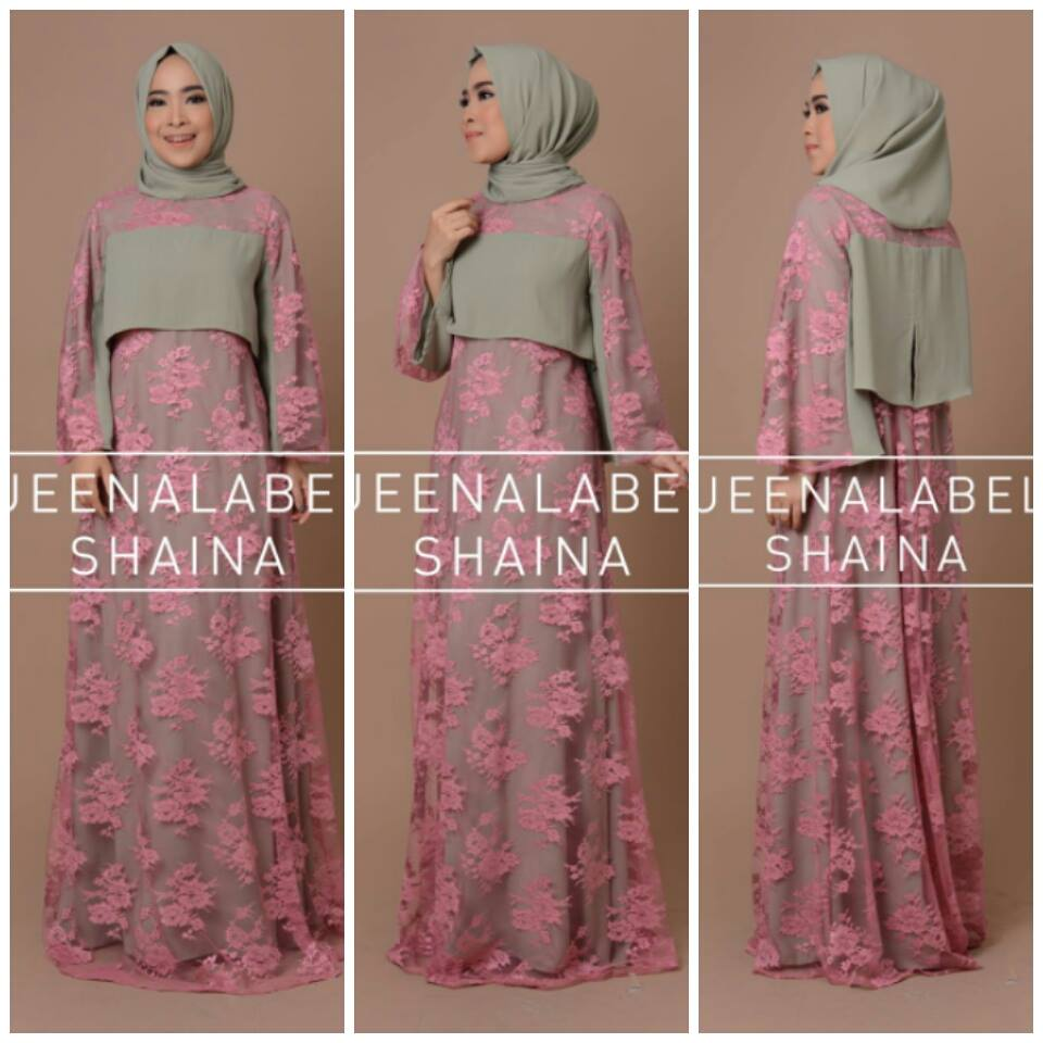 SHAINA by QUEENALABELS HIJAU ABU