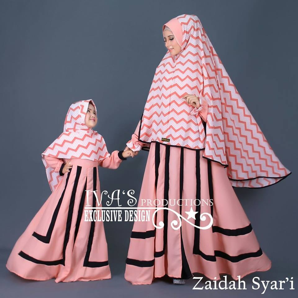 Zaidah Syar'i Mom n Kidz by IVA Peach