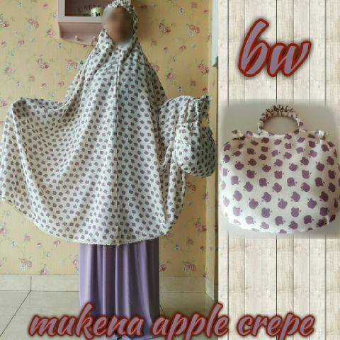 Mukena Apple Crepe Bw