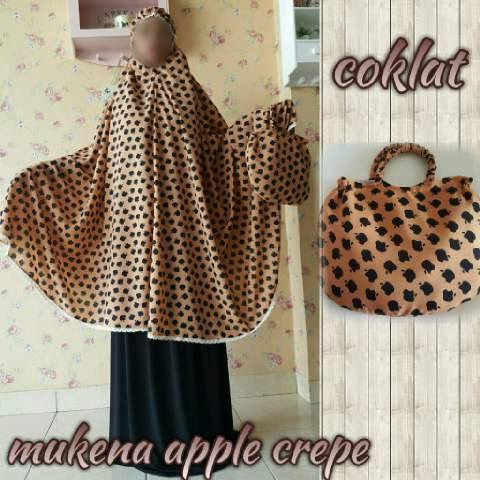 Mukena Apple Crepe Coklat