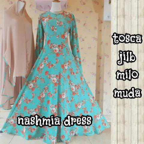 Nashmia dress Tosca jilbab milo