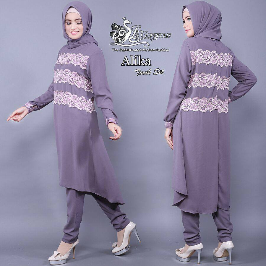 Alika Tunik Set by Lil Gorgeous ABU