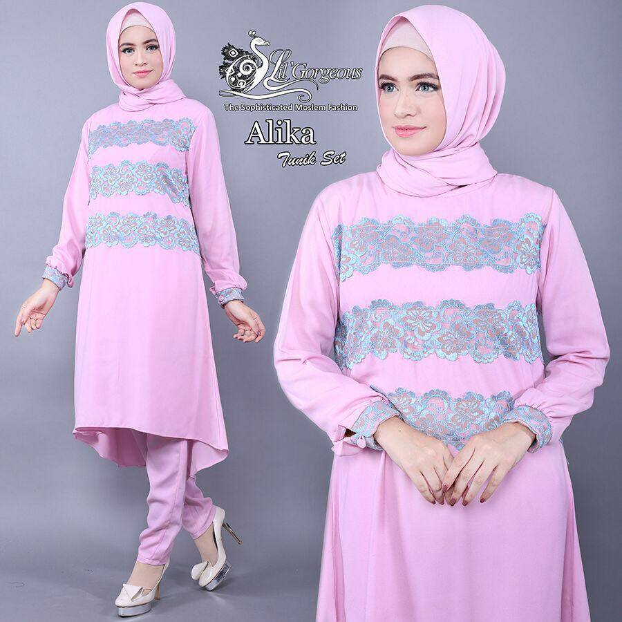 Alika Tunik Set by Lil Gorgeous PINK