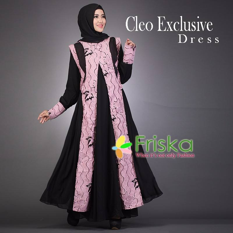 Cleo exclusive DRESS Hitam Dusty